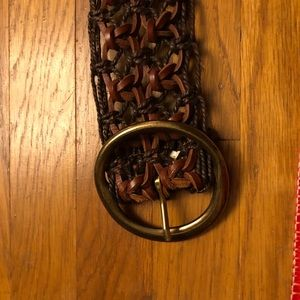 Accessories - Brown dark brown belt